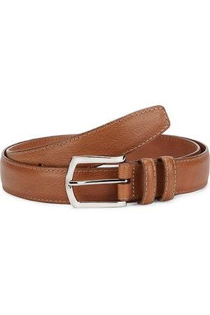 Saks Fifth Avenue Glazed Calf Leather Belt