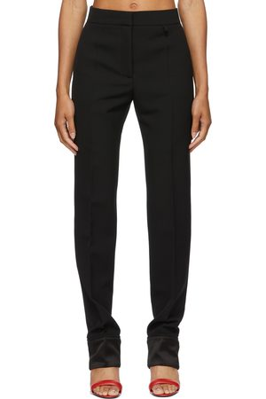 Women Formal Trousers - Givenchy Wool Tricotine Trousers