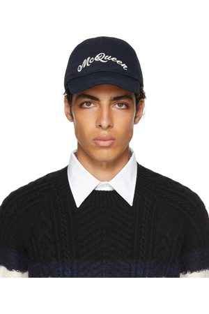 Alexander McQueen Navy Baseball Cap