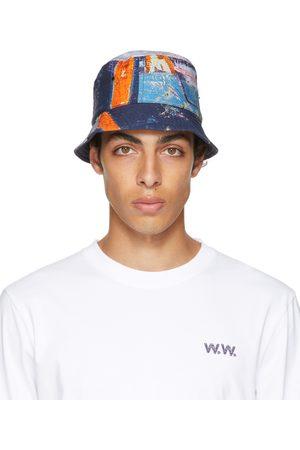 Men Hats - Wood Wood Multicolor Reversible JP Bucket Hat