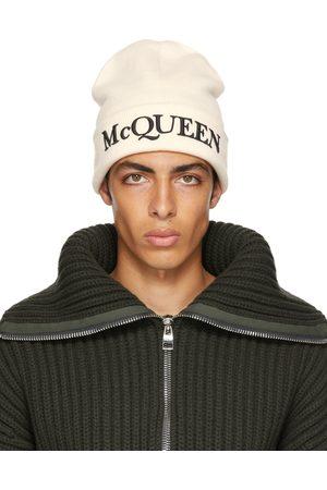 Alexander McQueen Off- Logo Beanie