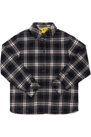 OFF-WHITE KIDS Check Cotton Blend Flannel Shirt