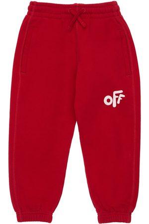OFF-WHITE KIDS Logo Print Cotton Sweatpants