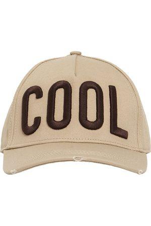 Dsquared2 Men Hats - Cool Patch Cotton Gabardine Cap