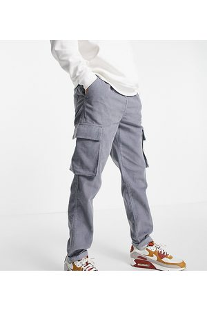 New Look Men Cargo Trousers - Cord cargos with elastic waist in