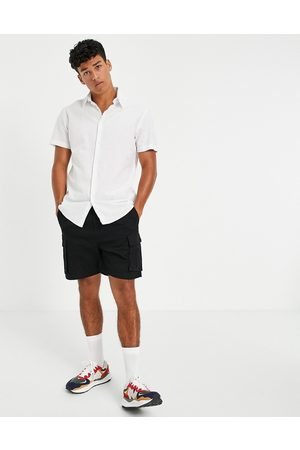 Selected Homme Linen shirt with short sleeves in