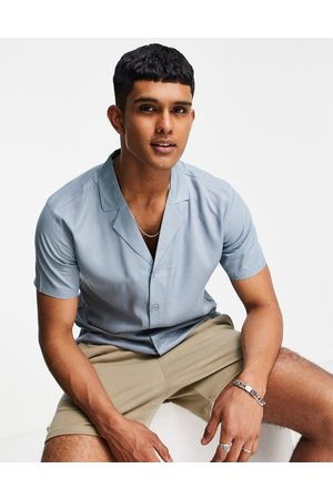 New Look Co-ord short sleeve shirt with revere collar in