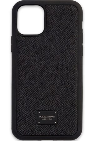 Dolce & Gabbana Men Phone Cases - IPhone 11 Pro logo-plaque case