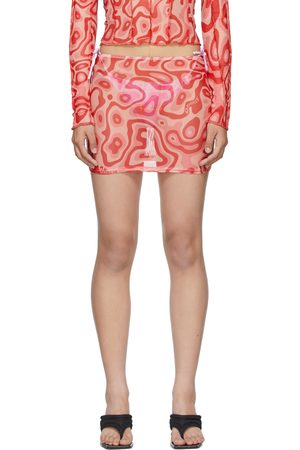 OMIGHTY SSENSE Exclusive Pink Mesh Lava Miniskirt
