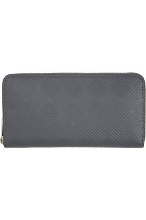 Bottega Veneta Grey Embossed Zip Around Wallet