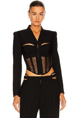Dion Lee Suspended Lace Bustier Jacket in