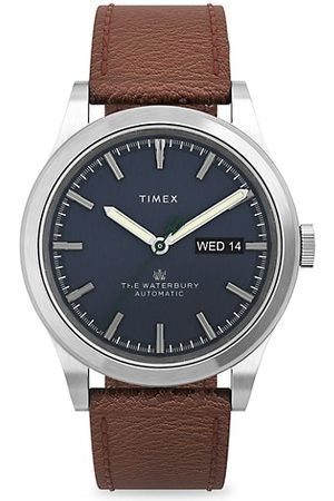 Timex Waterbury Traditional Stainless Steel & Leather Strap Watch