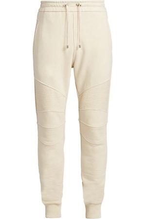 Balmain Men Joggers - Ribbed Cotton Sweatpants