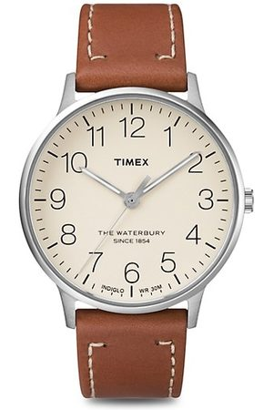 Timex Waterbury Classic Stainless Steel & Leather Strap Watch