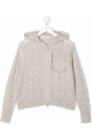 Brunello Cucinelli Kids Cable-knit hoodie
