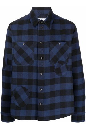 OFF-WHITE SPECIAL FLANNEL SHIRT BLUE