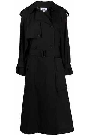 Kenzo Double-breasted belted cotton trench coat