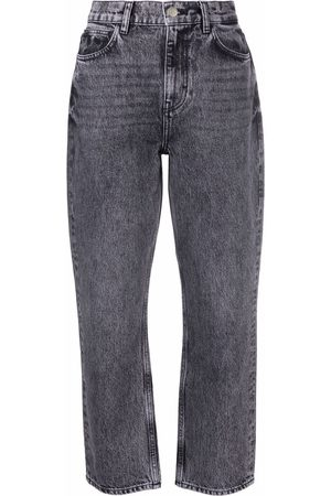 IRO High-rise tapered jeans