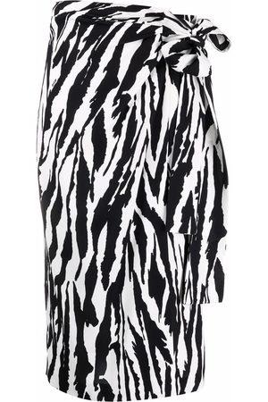 Msgm Zebra-print wrap skirt