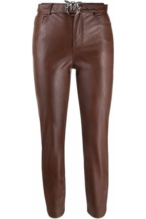 Pinko Cropped faux leather trousers