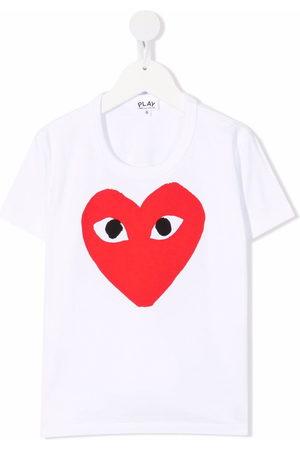 Comme des Garçons Boys Short Sleeve - Heart-print short-sleeved T-shirt