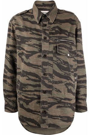Zadig & Voltaire Oversized camouflage-print military shirt