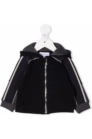 Emporio Armani Bomber Jackets - Logo-print sleeve jacket