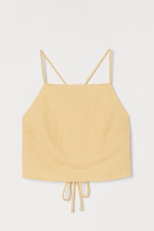 H&M Open-backed cropped top