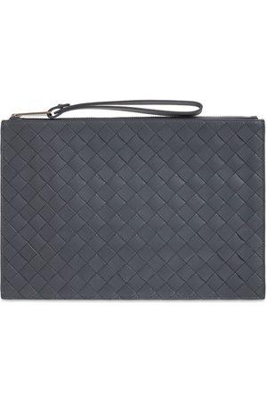Bottega Veneta Medium Intrecciato 1.5 Leather Zip Pouch