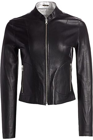 LaMarque Women Leather Jackets - Chapin Reversible Leather Bomber