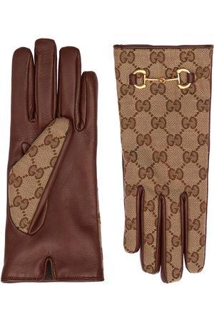 GUCCI Gg Canvas Gloves W/ Horsebit