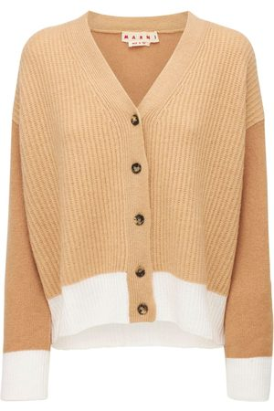 MARNI V-neck Cashmere Knit Cardigan