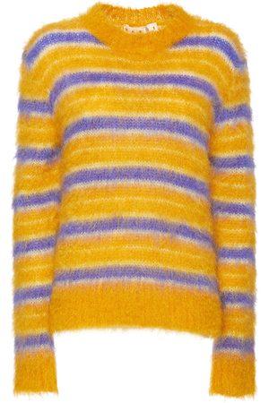 Marni Striped Mohair Blend Crewneck Sweater