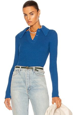 Equipment Women Jumpers - Pommina Polo Sweater in Sky Diver