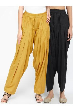 Molcha Women Pack Of 2 Pure Cotton Loose-Fit Salwars