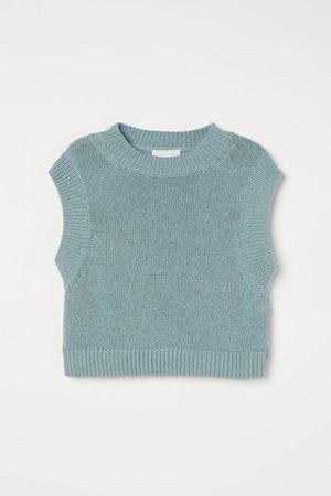 H & M Boxy sweater vest - Turquoise