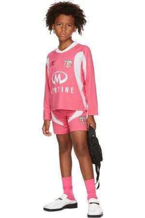 Martine Rose SSENSE Exclusive Kids & White Football Jersey Shorts