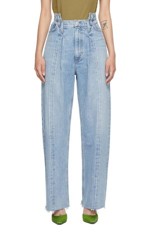 AGOLDE Blue Pieced Angle Jeans