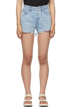 Grlfrnd Blue High-Rise Helena Shorts