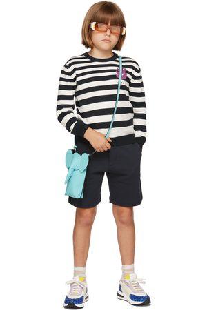 Marni Kids Navy & White Striped Sweater