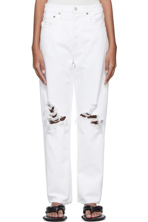 AGOLDE White '90s Mid-Rise Loose Fit Jeans