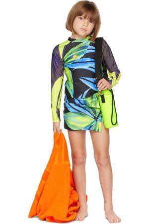Louisa Ballou SSENSE Exclusive Kids Black & Green Double Ring Skirt