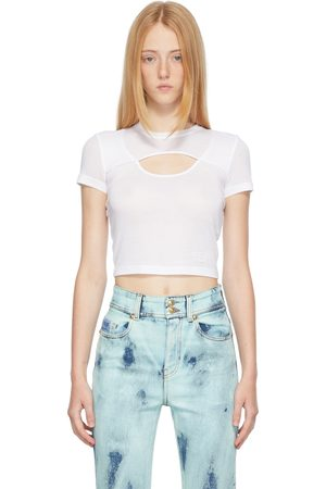 Versace Jeans Couture White Cut-Out T-Shirt