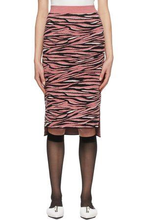 Stella McCartney & Black Animal Pattern Mid-Length Skirt