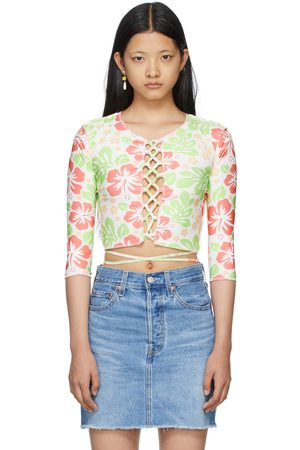 OMIGHTY SSENSE Exclusive Hibiscus Cut-Out Long Sleeve T-Shirt
