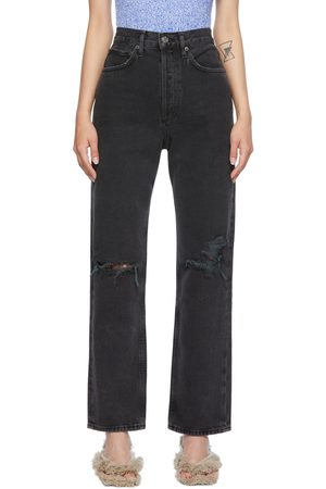 AGOLDE Black 90's Mid-Rise Loose Jeans
