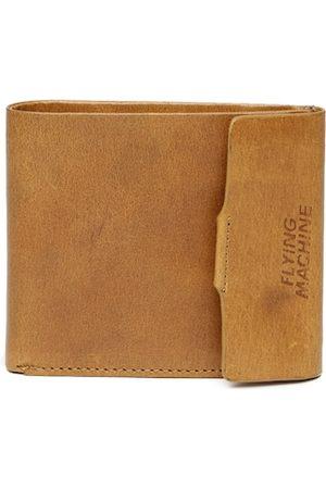 Flying Machine Men Tan Brown Leather Two Fold Wallet