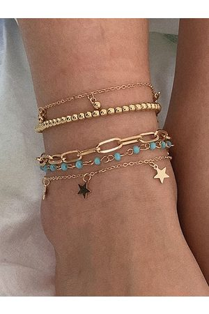 YOINS 1 Set Ball Star-Shaped Chains Anklets