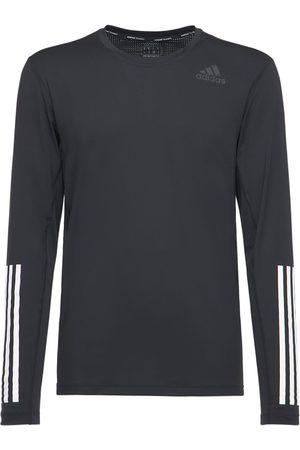 adidas Men Long Sleeve - Techfit Fitted Long Sleeve T-shirt