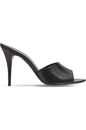 Saint Laurent Women Flats - 95mm La 16 Leather Mules